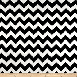 Rayon Spandex Jersey Knit Chevron Black/White Fabric