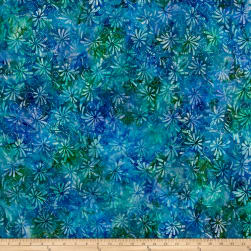 Swirl Splash Batik Lt Blue/Purple/Green Fabric