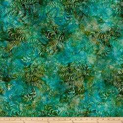Sweeping Vine Batik Green/Blue Fabric