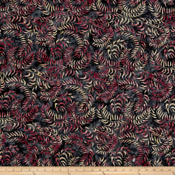 Sweeping Blac Batik Black/Pink/Ivory Fabric