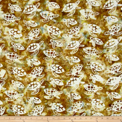 Turtle Batik Natural Fabric