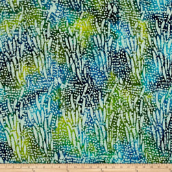 Stripe Batik Dot Blue/Green Fabric
