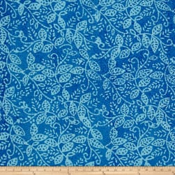 Vine Batik Blue Fabric