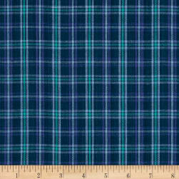 Yarn Dyed Shirting Small Plaid Purple/Teal/Navy Fabric