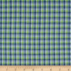 Yarn Dyed Shirting Check Purple/Lime/Lav Fabric