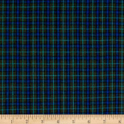 Yarn Dyed Shirting Plaid Olive/Royal/Green Fabric