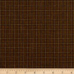 Yarn Dyed Shirting Mini Check Rust/Olive Fabric