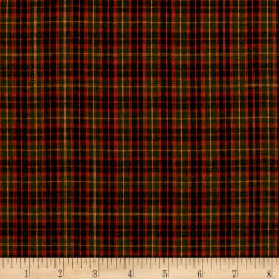 Yarn Dyed Shirting Check Rust/Olive Fabric