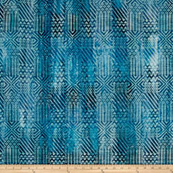Batik Southwest Patch Blue Fabric