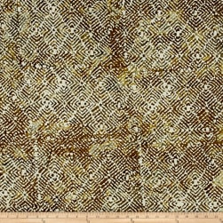 Mosaic Batik Brown/Grey/White Fabric