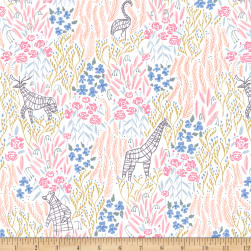 Dear Stella Royal Picnic Topiary White Fabric