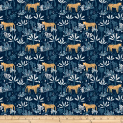 Dear Stella Hakuna Matata Tiger Land Midnight Fabric
