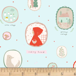 Dear Stella Little Red Picture Frames Skylight Fabric
