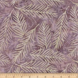 Wilmington Batiks Delicate Fronds Purple/Tan Fabric