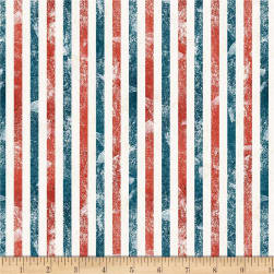 Wilmington Land of Liberty Stripes Multi Fabric