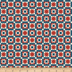 Wilmington Land of Liberty Patchwork Red Fabric