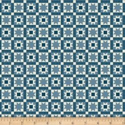 Wilmington Land of Liberty Patchwork Blue Fabric