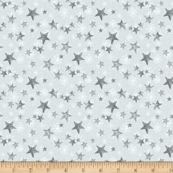 Wilmington Friendly Gathering Stars Light Gray Fabric