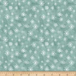 Wilmington Friendly Gathering Snowflake Teal Fabric