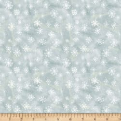 Wilmington Friendly Gathering Snowflake Light Gray Fabric