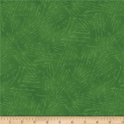 Wilmington Royal Red Word Texture Green Fabric