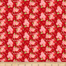 Wilmington Amorette Roses Red/Pink Fabric