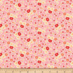 Wilmington Amorette Posies Pink Fabric