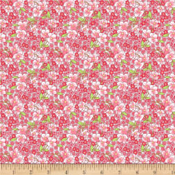 Wilmington Amorette Packed Floral Pink Fabric