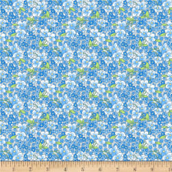 Wilmington Amorette Packed Floral Blue Fabric