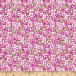 Wilmington Amorette Packed Floral Purple Fabric