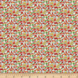Wilmington Amorette Tiny Garden Red Fabric