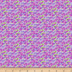 Wilmington Amorette Tiny Garden Purple Fabric