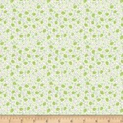 Wilmington Amorette Leaves and Flowers Green Fabric