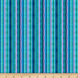 Wilmington Arctic Wonderland Stripe Cool Multi Fabric