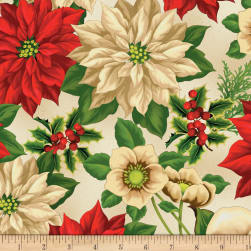 Wilmington Holiday Lane Large Floral Tan