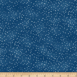Wilmington Under The Pines Snow Dots Blue Fabric