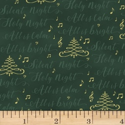 Hoffman Cardinal Carols Silent Night Words Metallic Hunter/Gold