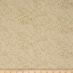 Cream & Sugar VII Abstract Swirl Beige Fabric