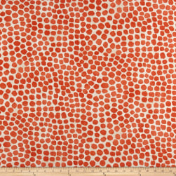 Genevieve Gorder Outdoor Puff Dotty Coral Fabric