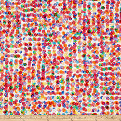 Hoffman Digital Fluttering By Paint Dots Punch Fabric