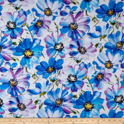 Hoffman Digital Fluttering By Floral Dragonfly Fabric