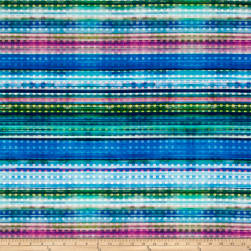 Hoffman Digital Fluttering By Dot Stripe Dragonfly Fabric