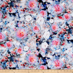 Hoffman Digital Shine On Gem Floral Jewel Fabric