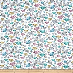 Hoffman Digital Shine On Tossed Gems Pastel Fabric