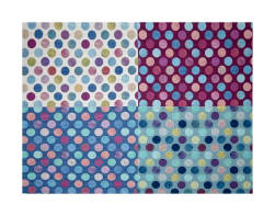 Hoffman Digital All A Twitter Fat Quarter Dots 72''Panel Sweetpea Fabric