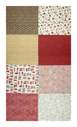 Hoffman Digital All A Twitter Fat Quarter Multi Print 72''Panel Carnation Fabric