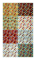 Hoffman Digital All A Twitter Fat Quarter Dots 72''Panel Spring Fabric