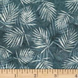Hoffman Bali Batik Palm Leaves Smoke Fabric