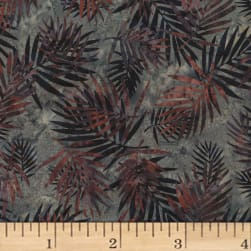 Hoffman Bali Batik Palm Leaves Hippo Fabric