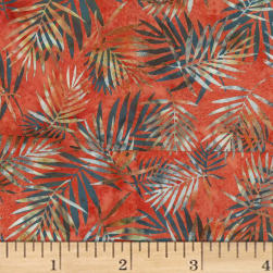 Hoffman Bali Batik Palm Leaves Crawfish Fabric